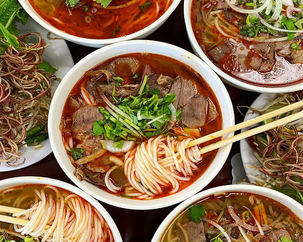 Hue's spicy beef noodle soup