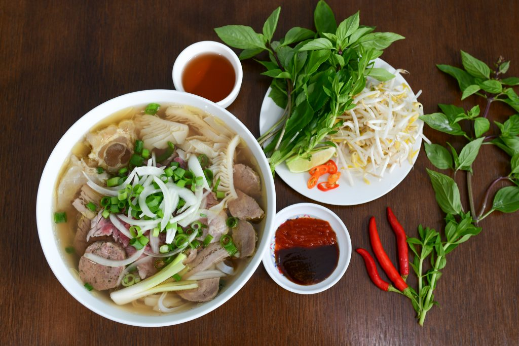 Phở is traditional food in Vietnam